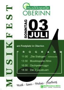 Musikfest Plakat 2016
